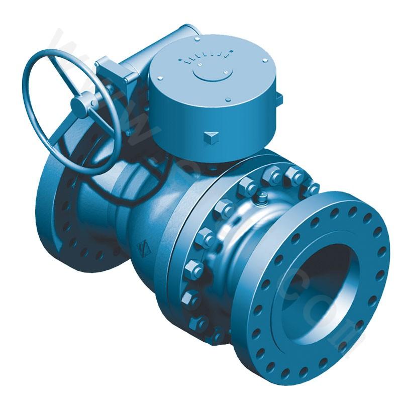 Fixed ball valve